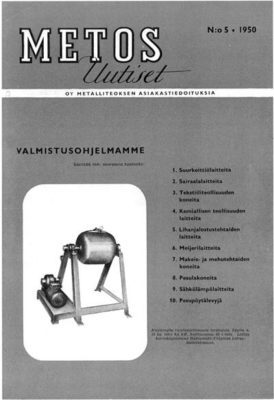"""Metos News"" Nr. 5 - 1950"